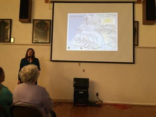 Jill Demers, Executive Director of the Humboldt County Resource Conservation District, delivered an excellent slide presentation on the Salt River Ecosystem Restoration Project.