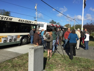 KIEM-TV interviewed attendees as they waited to board county buses for the Salt River Tour.