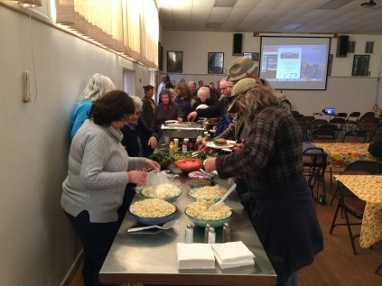 Ferndale Garden Club volunteer, Barbara Vernon, helped serve lunch to attendees.