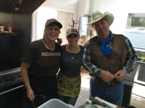 Thank you, Ronan and Mike Angelini of No Brand Burger Stand with helper, Kodi Millsap.