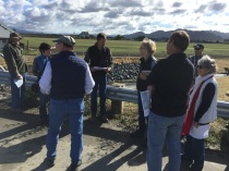 Jeremy Svelha, GHD project engineer on the Salt River Ecosystem Restoration Project, leading a tour.