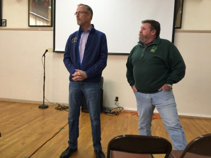 Congressman Jared Huffman and County Supervisor Rex Bohn answer questions about the Salt River project.